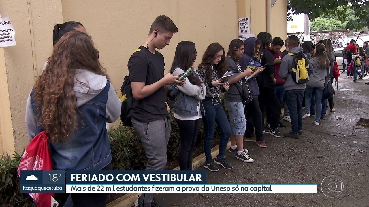 Vestibular: 22 mil estudantes fizeram a prova da Unesp na capital