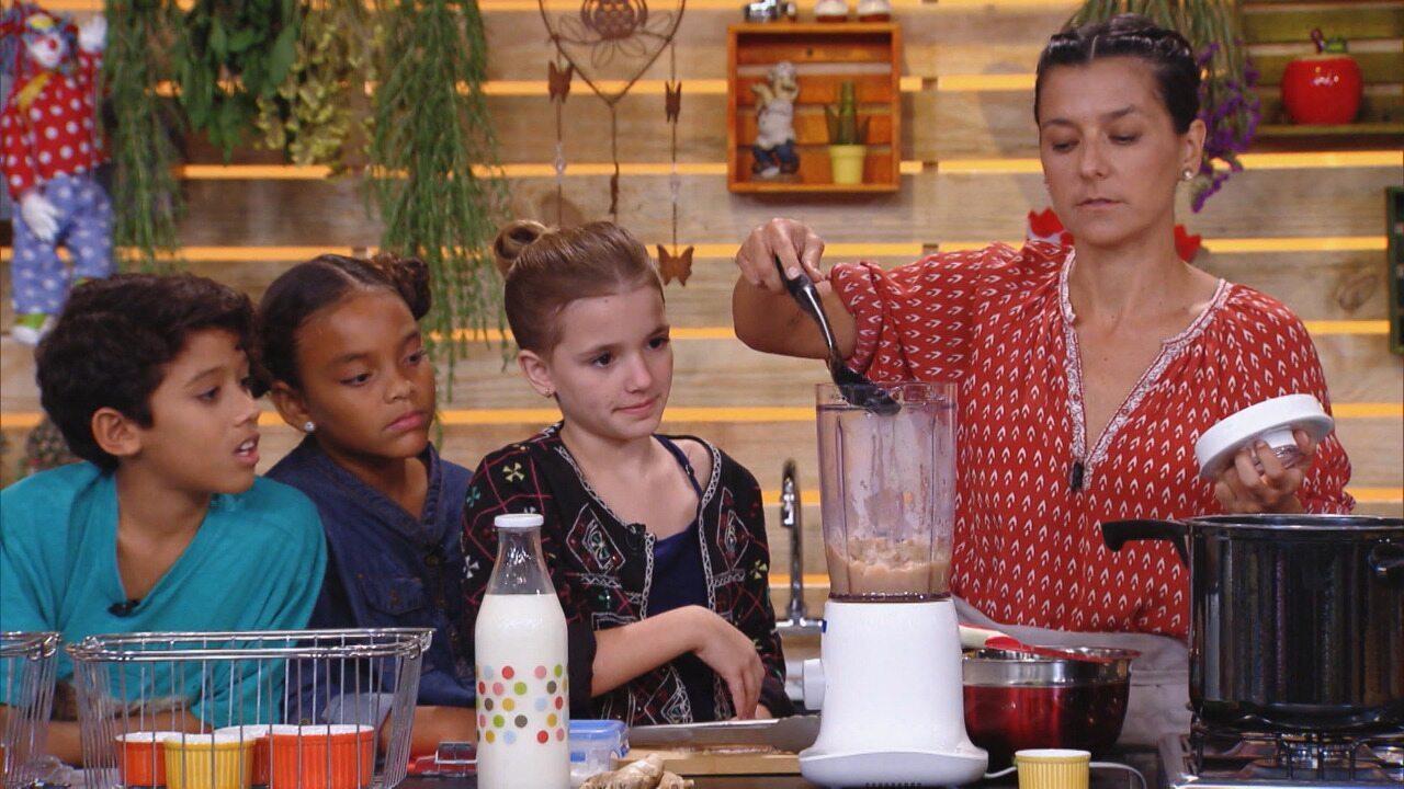 Sobremesas Deliciosas - Quem disse que sobremesa não pode ser saudáve? Na Cozinha da Kapim, a criançada vai fazer sorvetes deliciosos com biomassa, chia, manga, gengibre, chocolate amargo e iogurte.