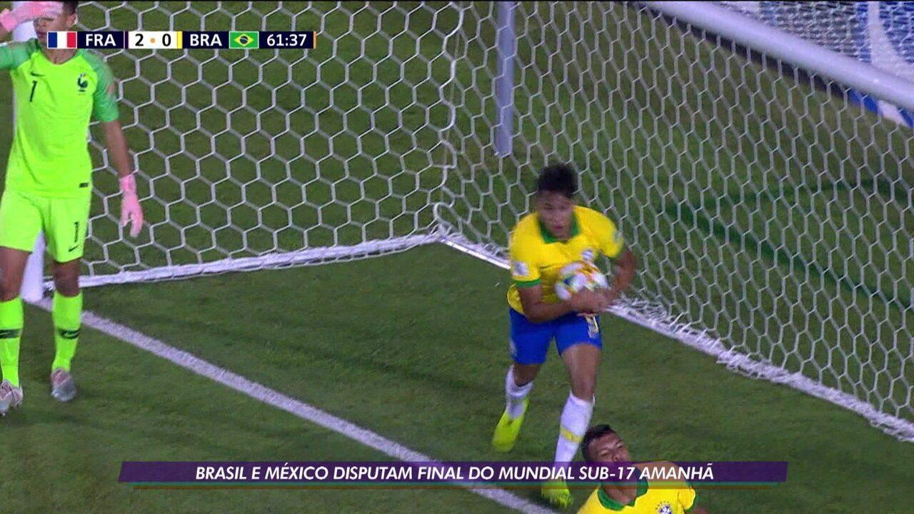 Kaio Jorge comanda o Brasil contra o México na final do Mundial Sub-17