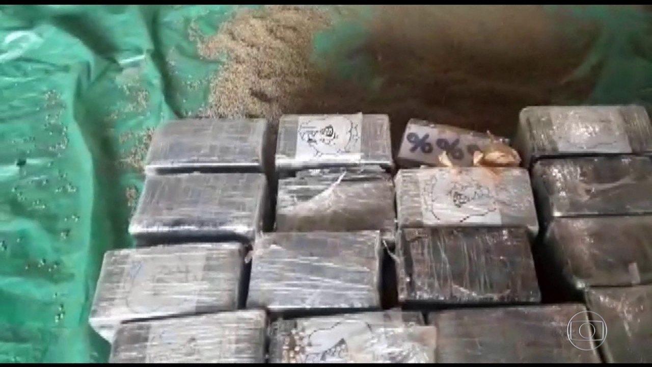 Apreensão de cocaína bate recorde nos portos brasileiros