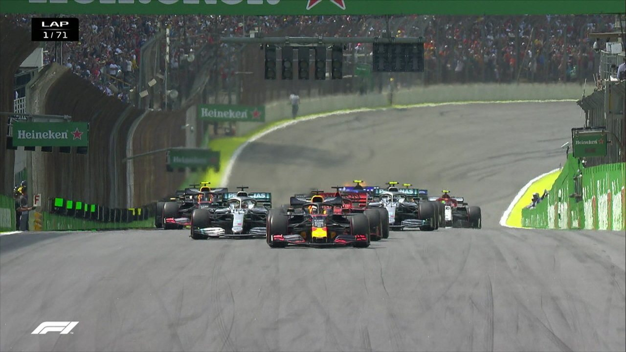 Confira a largada do GP Brasil de Fórmula 1