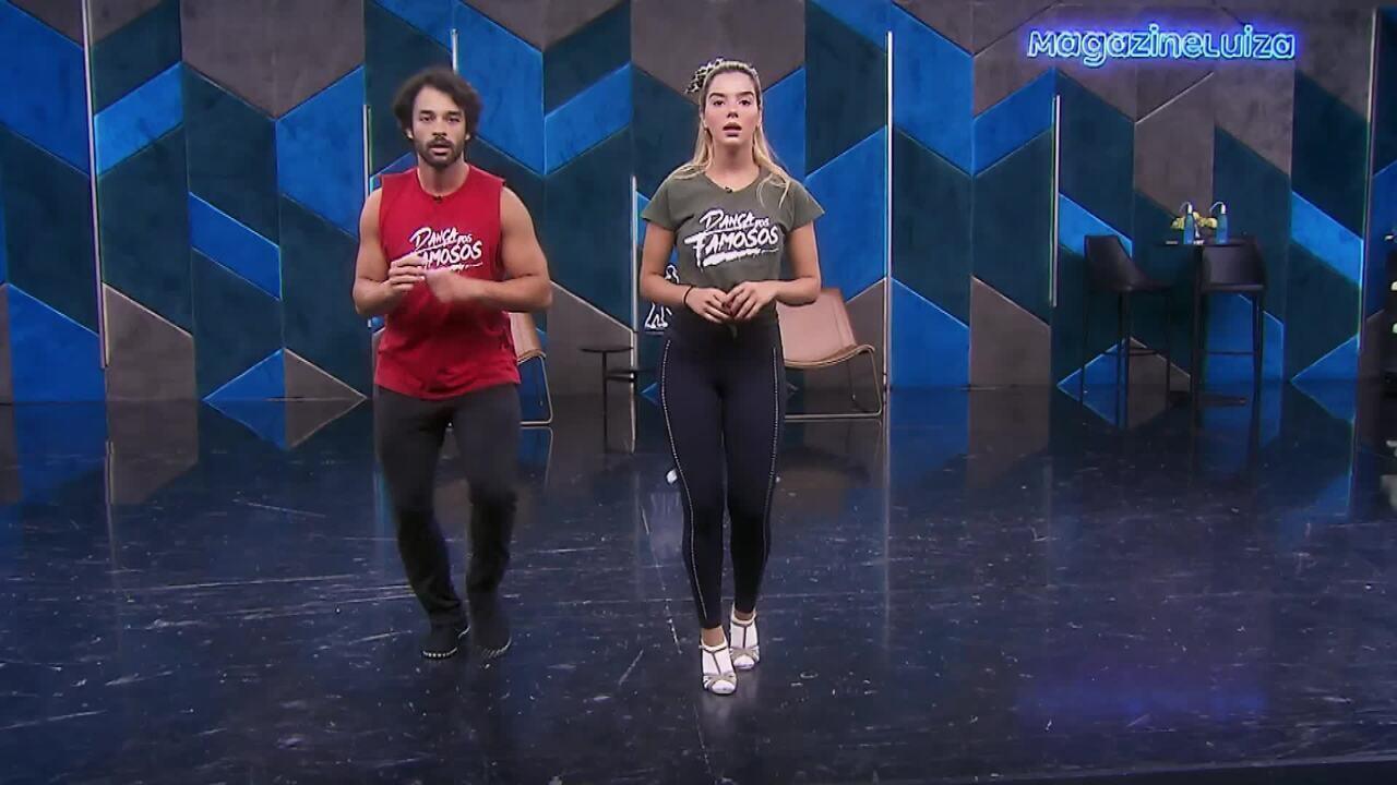Veja os ensaios de Giovanna Lancellotti para a salsa no 'Dança dos Famosos'