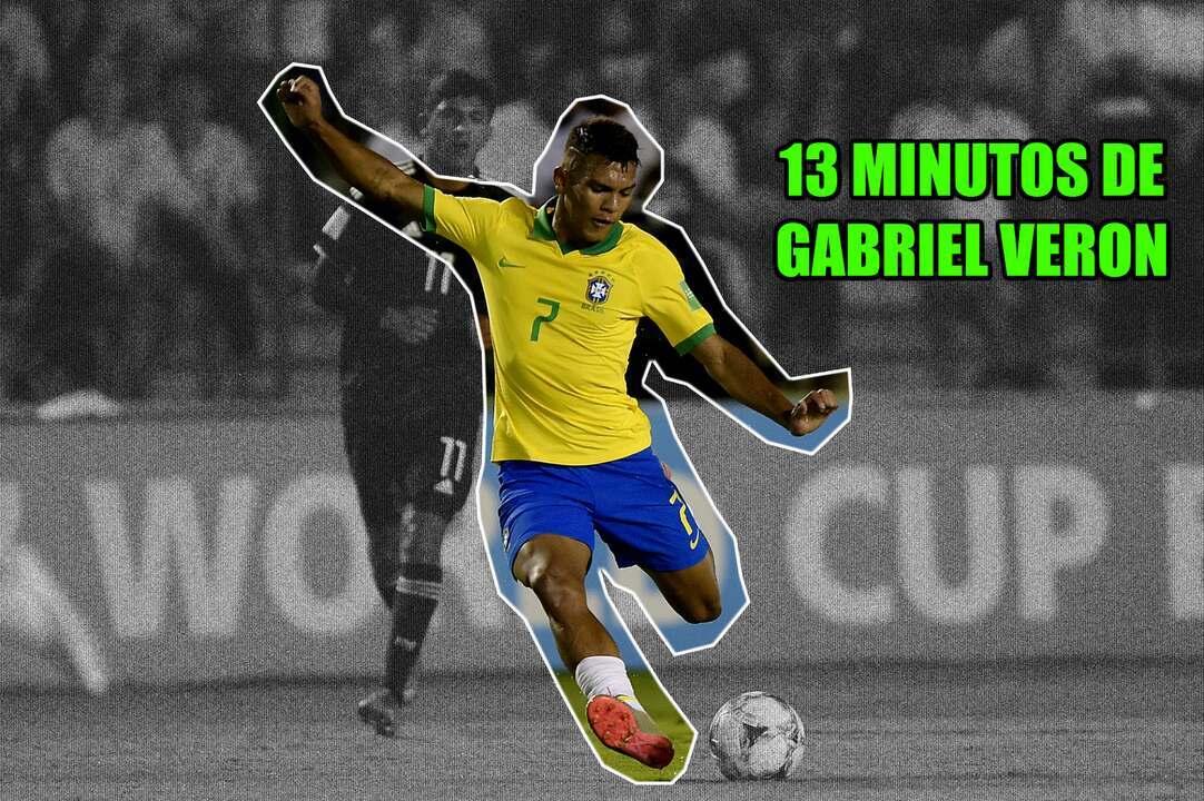 13 minutos só de Gabriel Veron na Copa do Mundo Sub-17