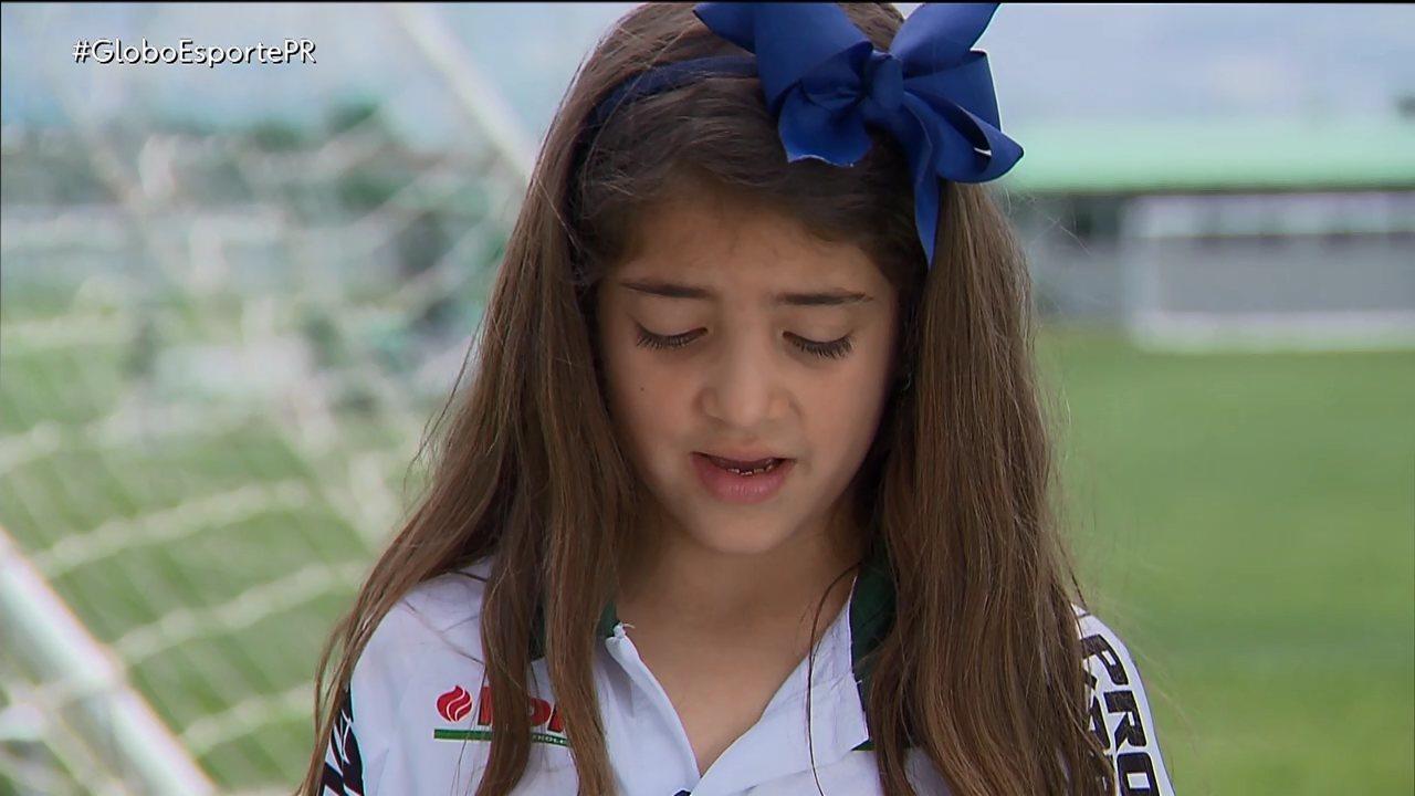 O sonho de uma pequena torcedora do Coritiba