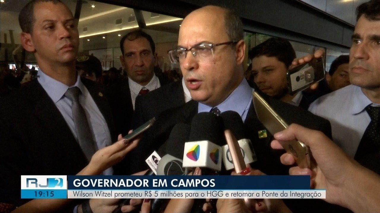 Wilson Witzel promete R$ 5 milhões para intervenções no HGG, em Campos