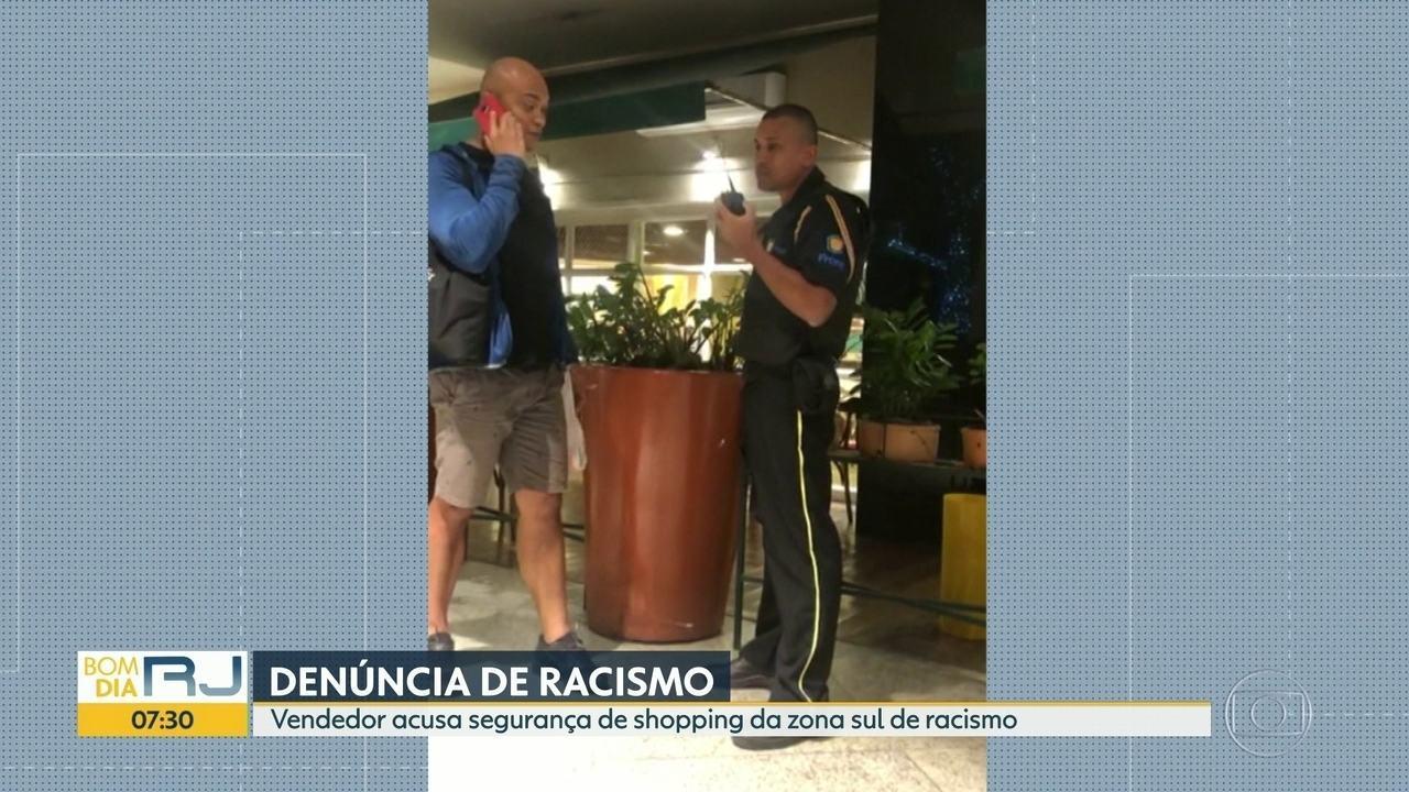 Vendedor diz ter sofrido racismo por parte de segurança de shopping, na Zona Sul