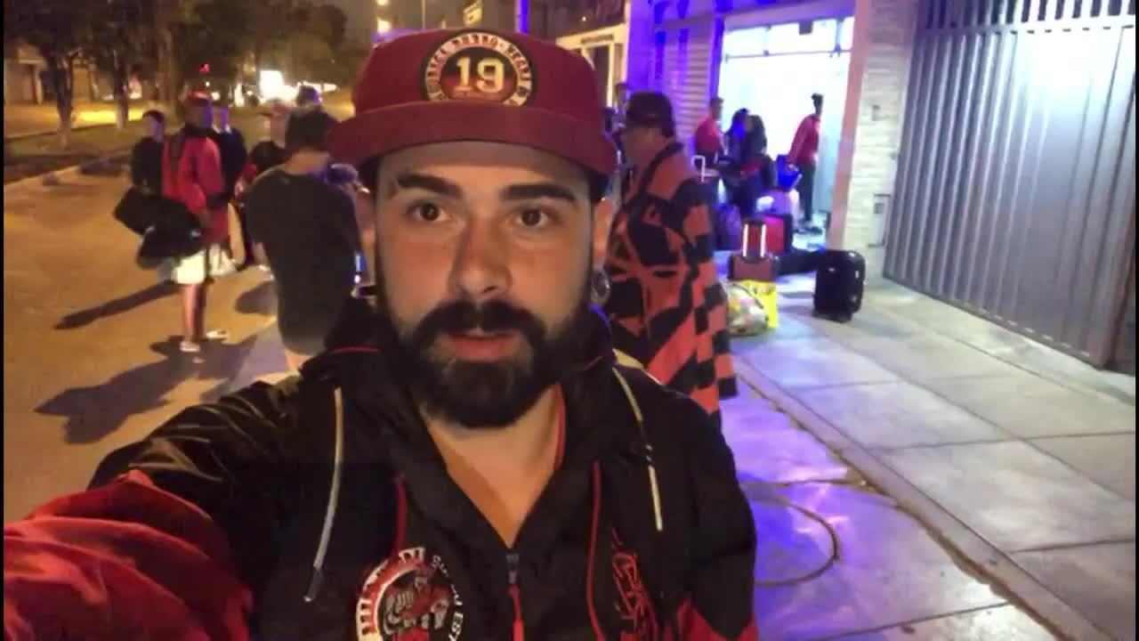 Flamenguista de Volta Redonda viaja por 100 horas para ver a final da Libertadores