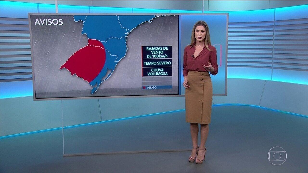 Previsão do tempo para terça-feira (26/11)