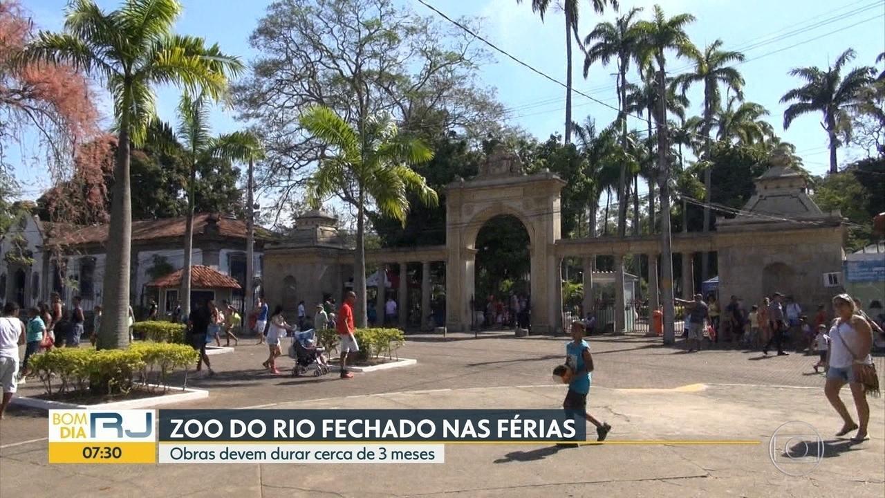 Zoológico do Rio fecha as portas para obras e só abre em 2020