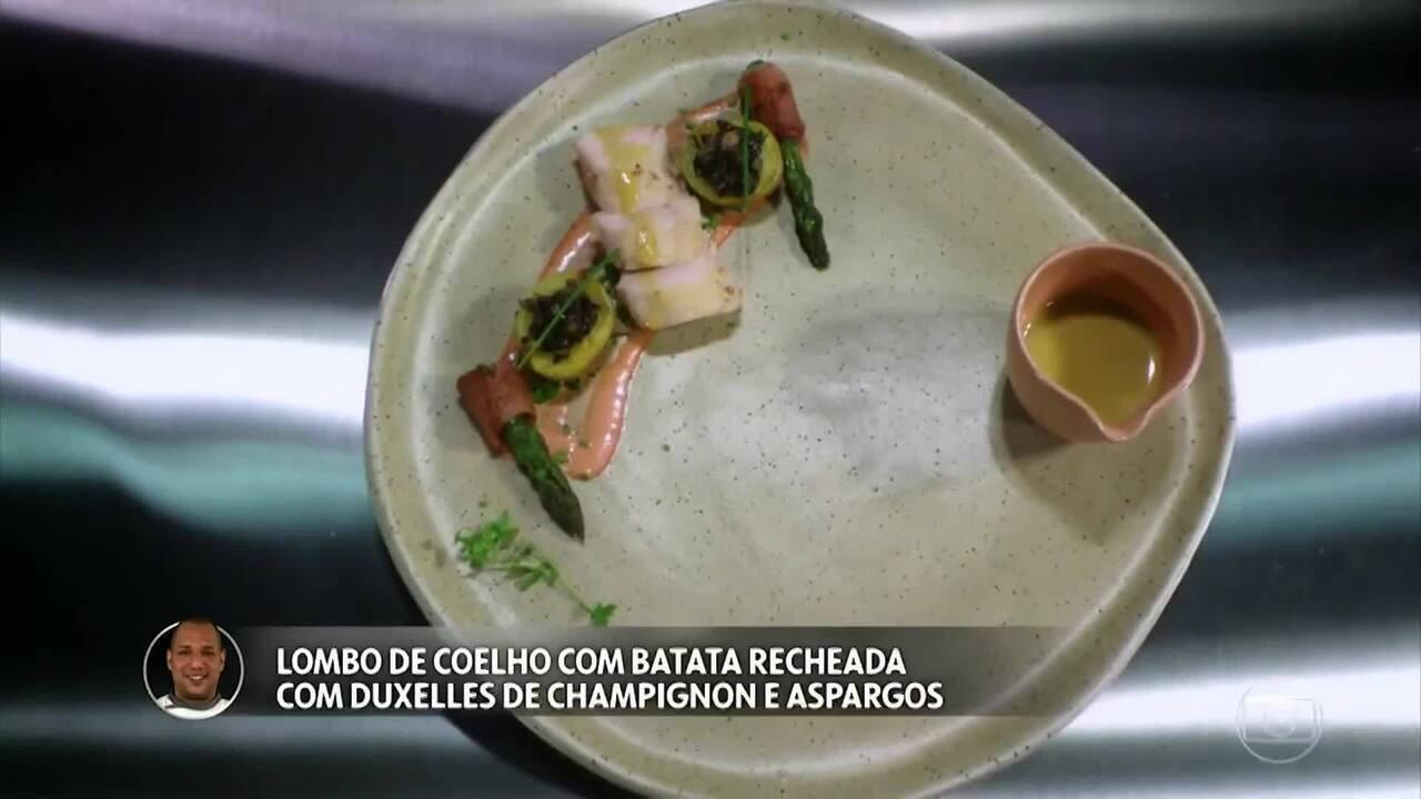 Lombo de Coelho com Batata Calabresa Recheada do Fernando Vaz