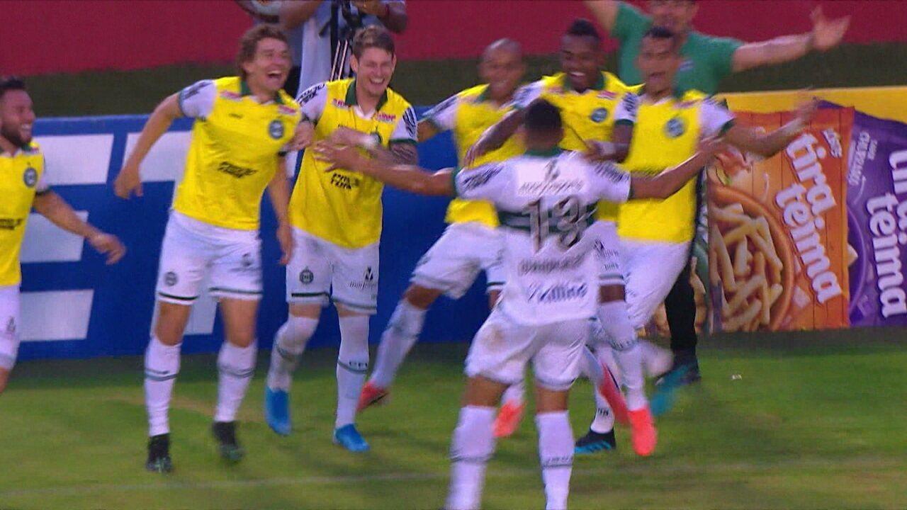 Os gols de Vitória 1 x 2 Coritiba pela 38ª rodada do Brasileiro Série B
