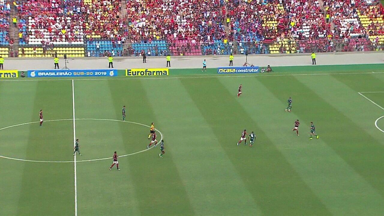 Melhores momentos de Flamengo 3 x 0 Palmeiras pelo jogo de volta da final do Brasileirão sub-20