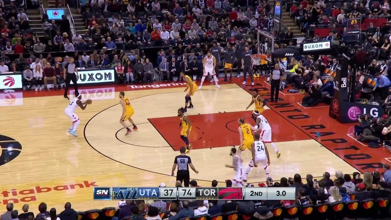Melhores momentos de Toronto Raptors 130x110 Utah Jazz pela NBA