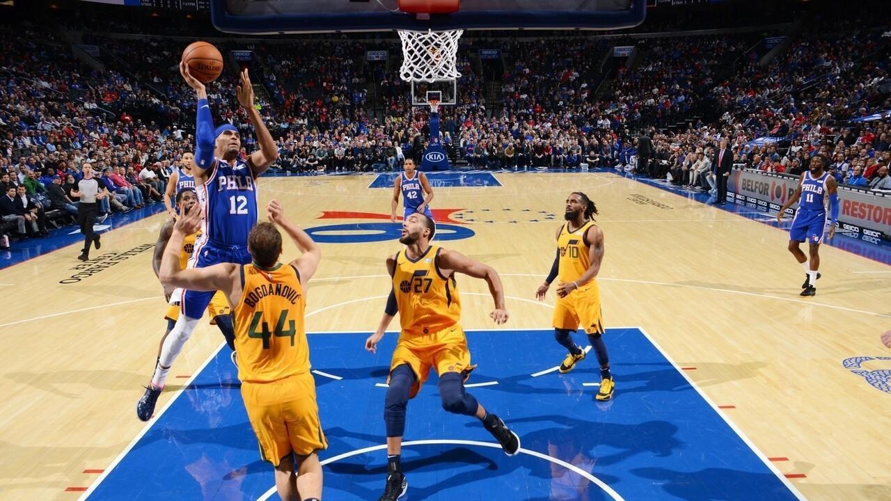 Melhores momentos de Philadelphia 76ers 103 x 94 Utah Jazz pela NBA