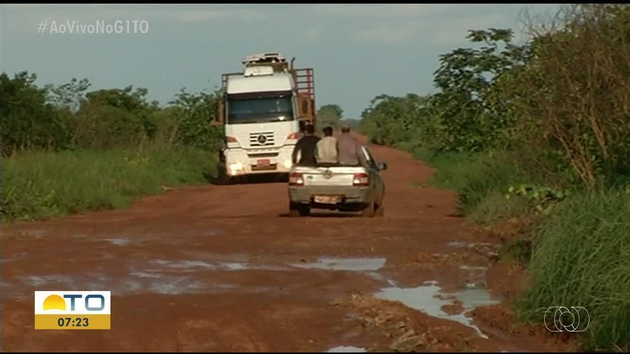 Agricultores enfrentam dificuldades em escoar grãos em lavouras próximas à TO-481