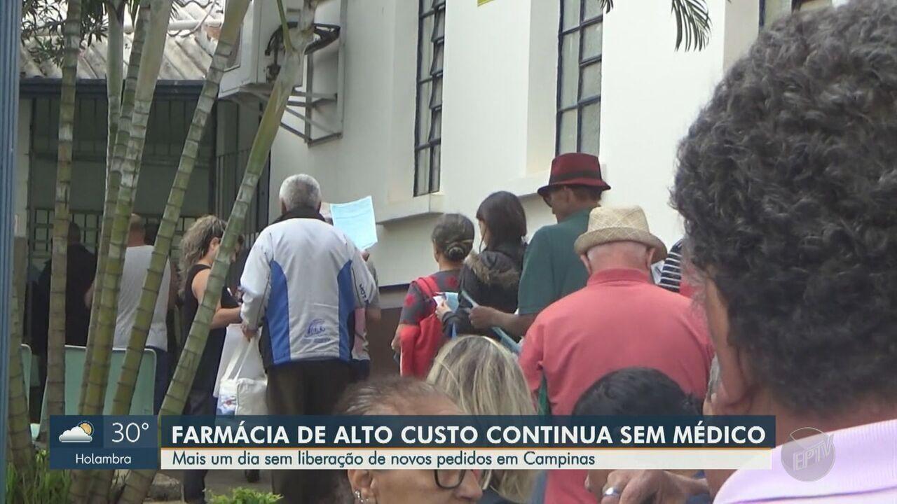 Farmácia de alto custo segue sem médico em Campinas
