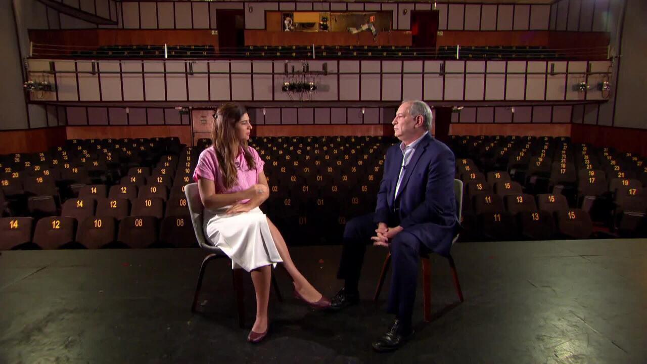 Andréia Sadi entrevista o ex-candidato à presidência da República Ciro Gomes