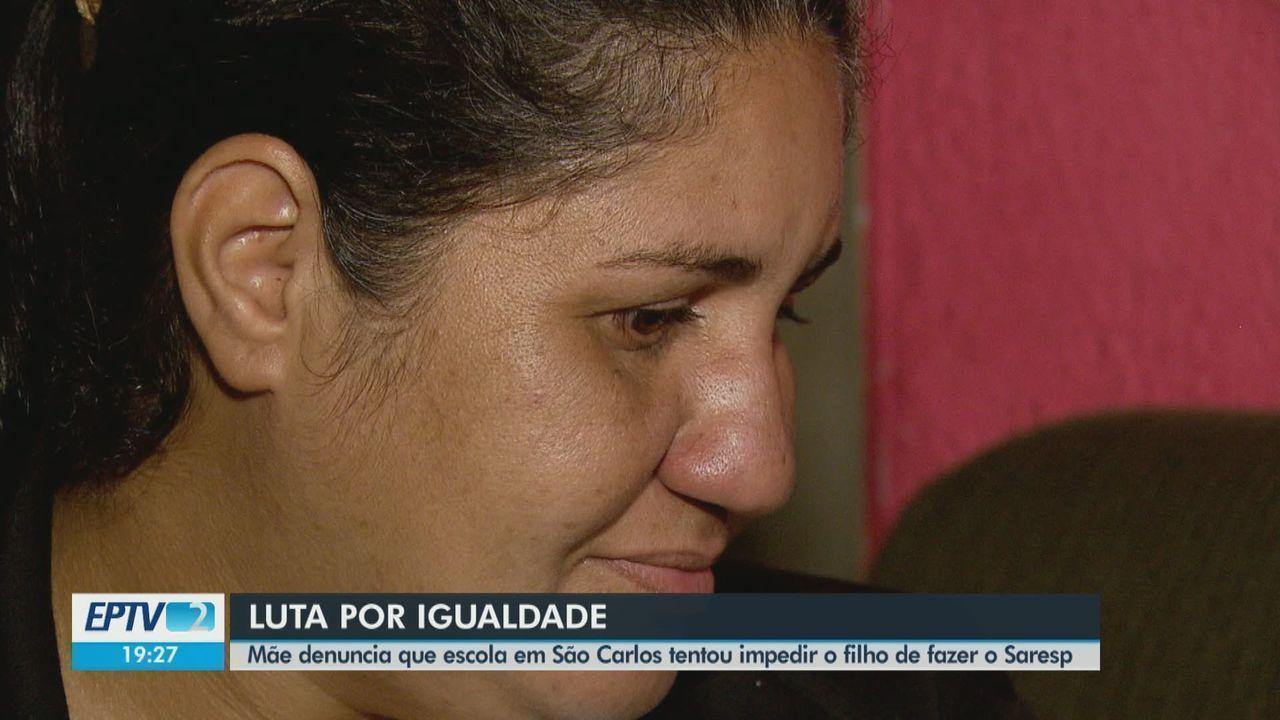 Mãe denuncia que escola em São Carlos tentou impedir o filho de fazer o SARESP