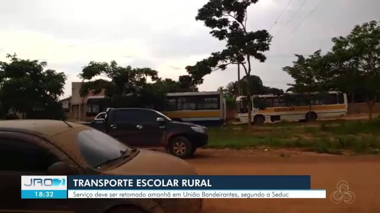 Transporte Escolar: serviço deve ser retomado na quarta-feira (4) em União Bandeirantes.