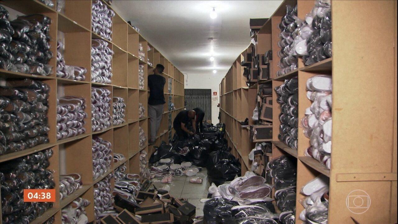 Operação contra falsificação de produtos no Braz tem milhares apreensões
