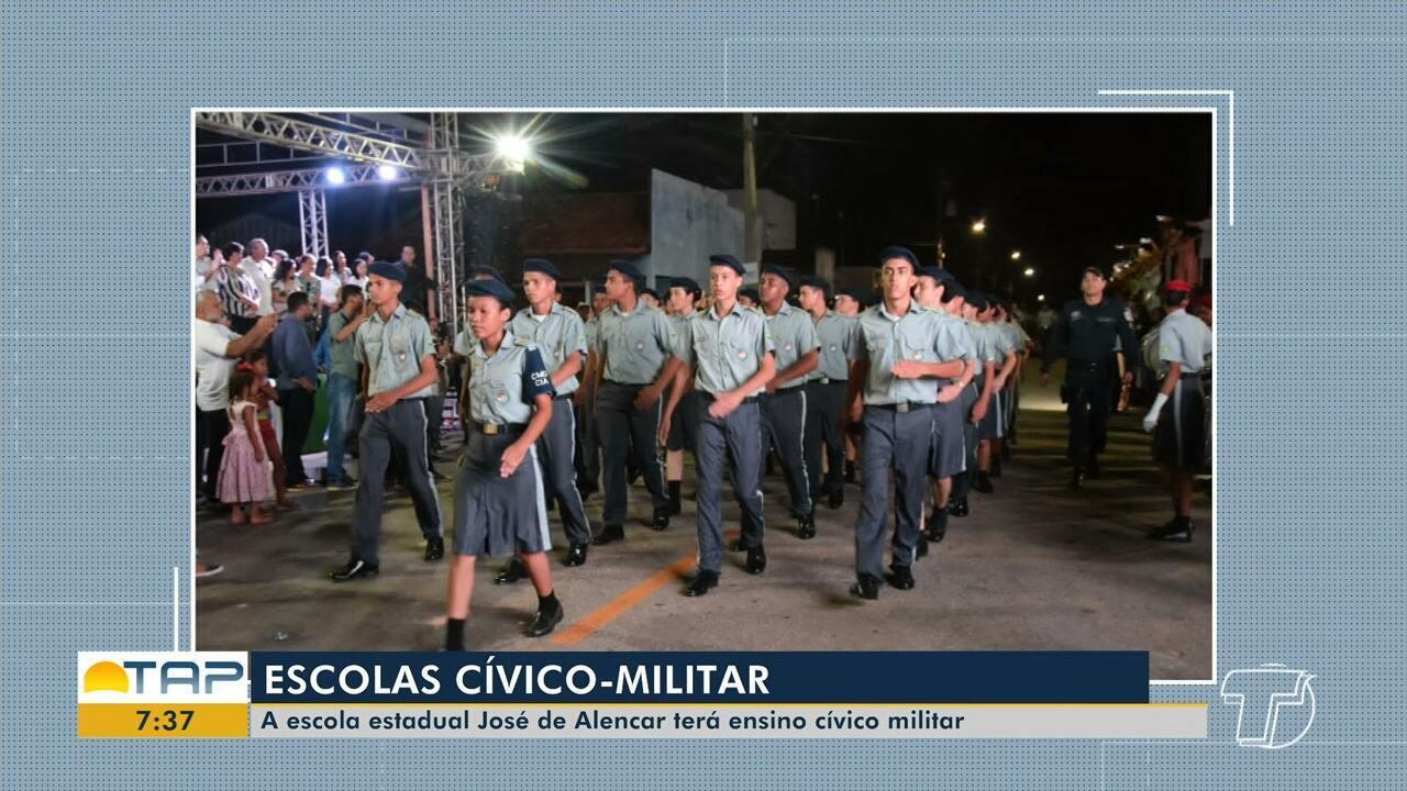 Escola José de Alencar deve ter sistema cívico-militar implantado em Santarém em 2020