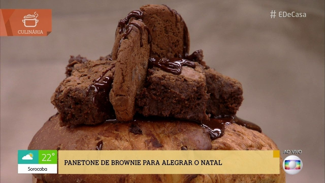 Confira a receita de Panetone de Brownie