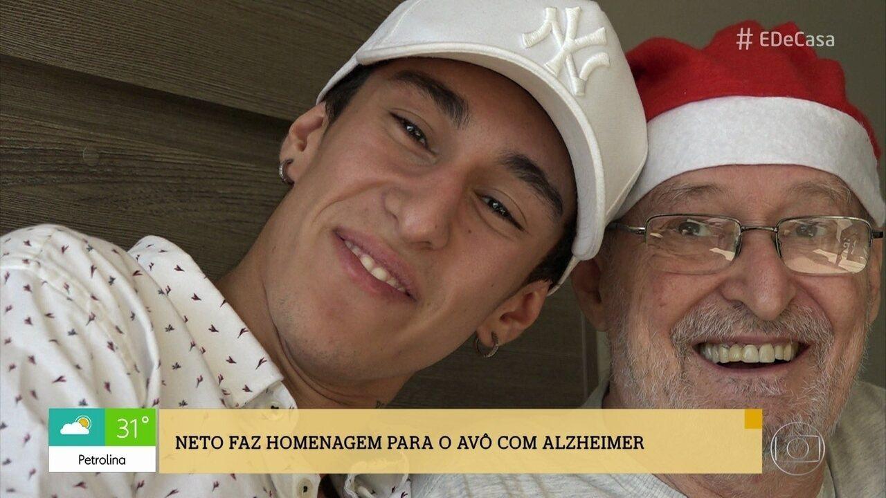 Conheça a história do neto que fez homenagem ao avô com Alzheimer