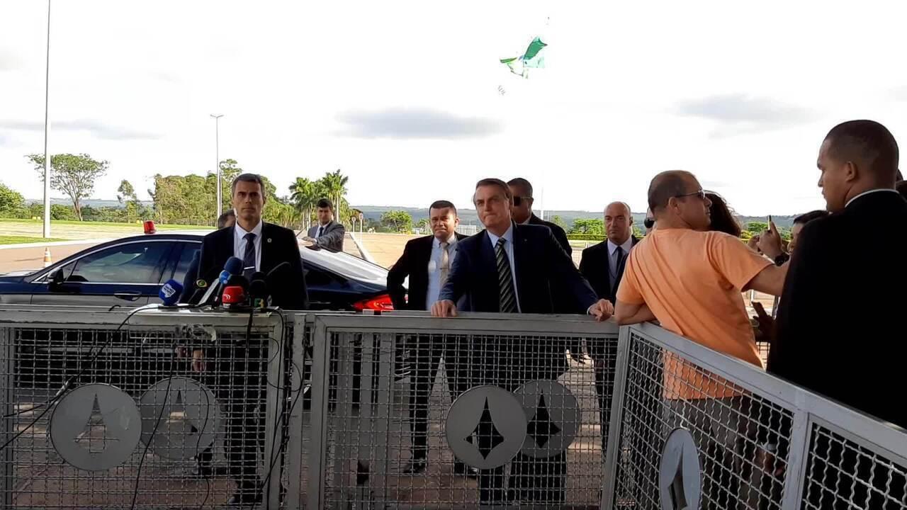 Presidente Jair Bolsonaro fala sobre posse do presidente argentino Alberto Fernández