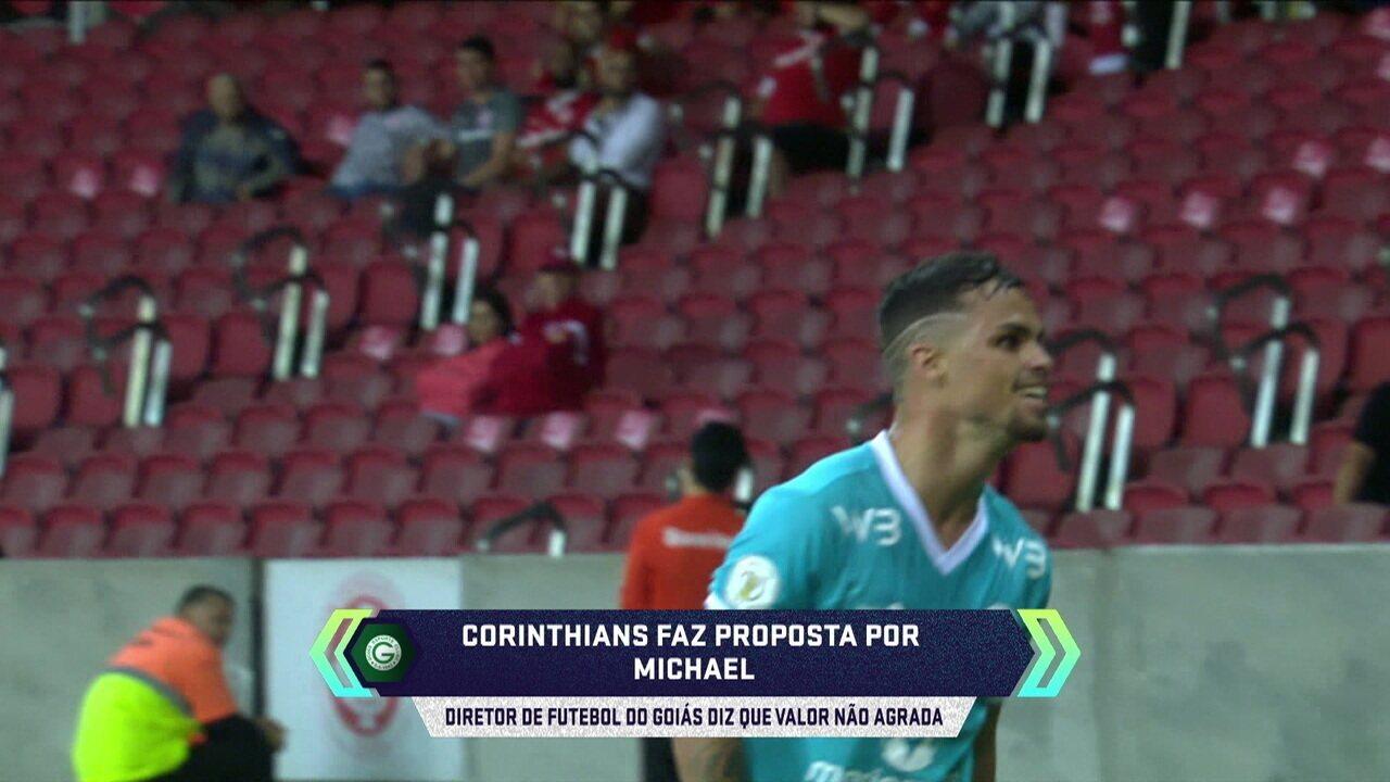 Central do Mercado: Técnico do Corinthians, Tiago Nunes ligou para Michael, atacante do Goiás