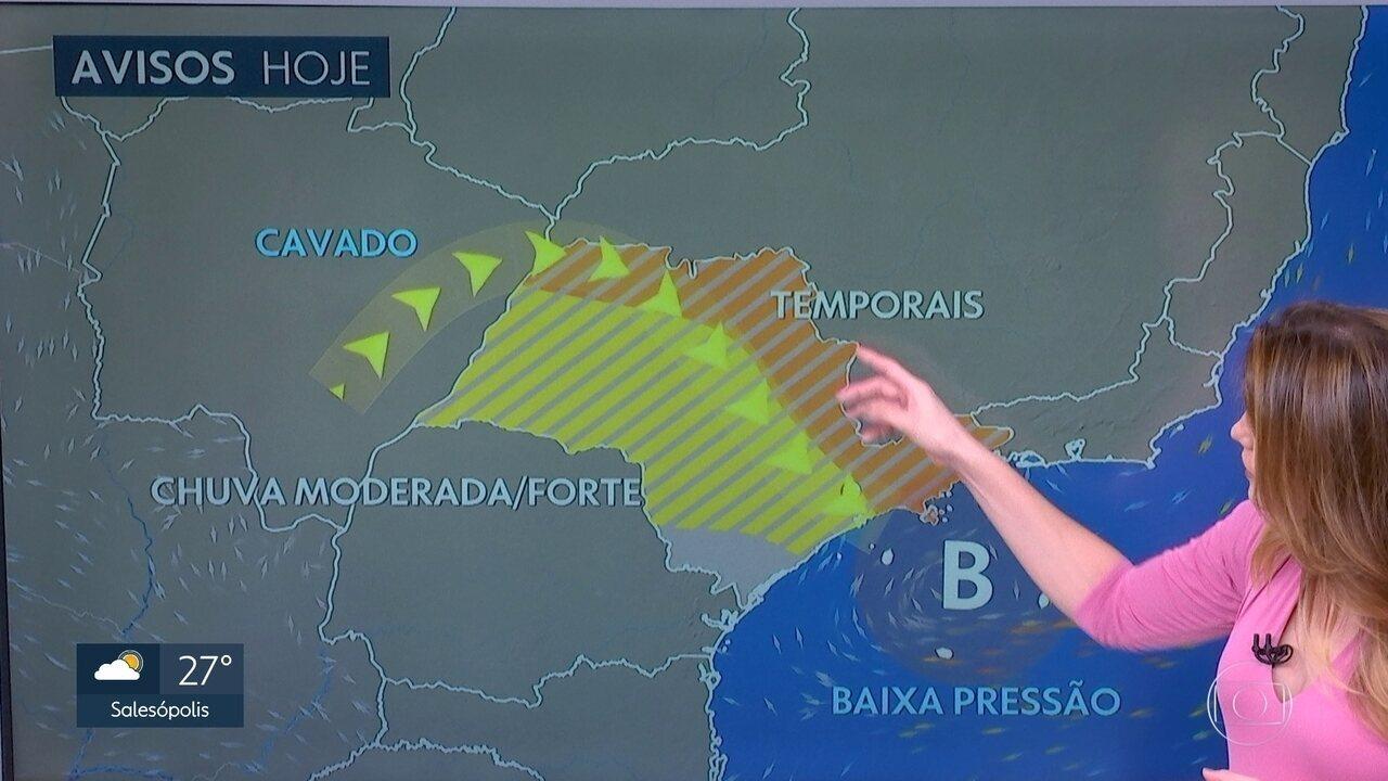 Tarde terá chuva forte, pelo segundo dia seguido, na Grande São Paulo