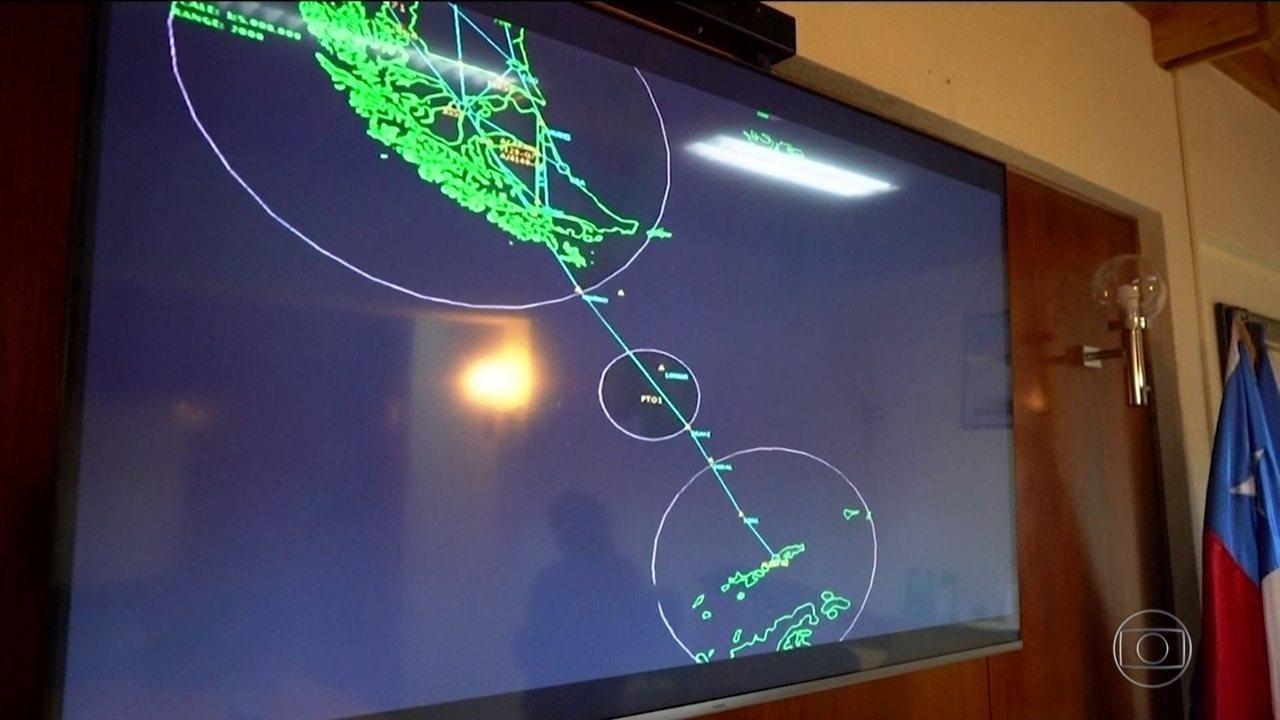 Força Aérea do Chile mostra região onde de avião Hércules C-130 desapareceu