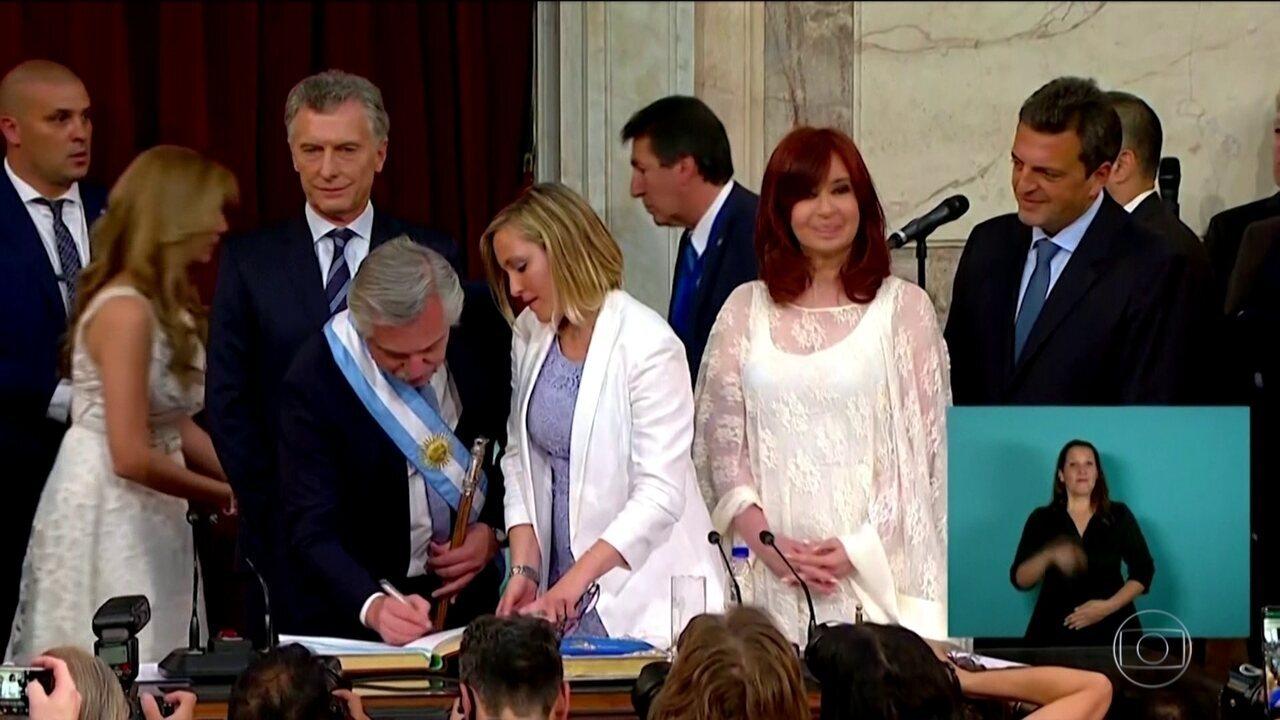 Alberto Fernández toma posse como presidente da Argentina