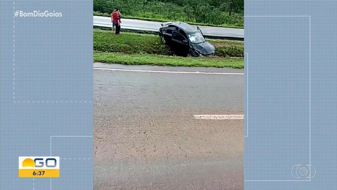 Vídeo mostra momento de acidente que matou duas pessoas na BR-060