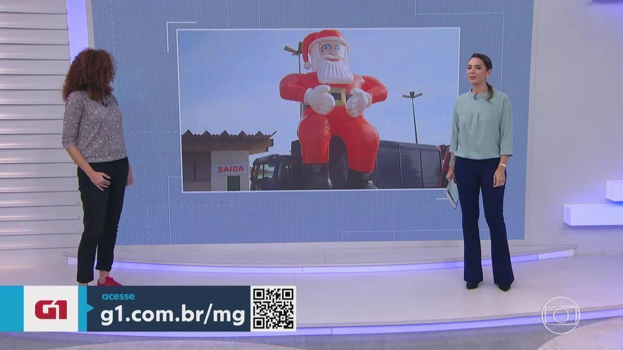 Papai Noel inflável é roubado na Grande BH e empresária oferece recompensa