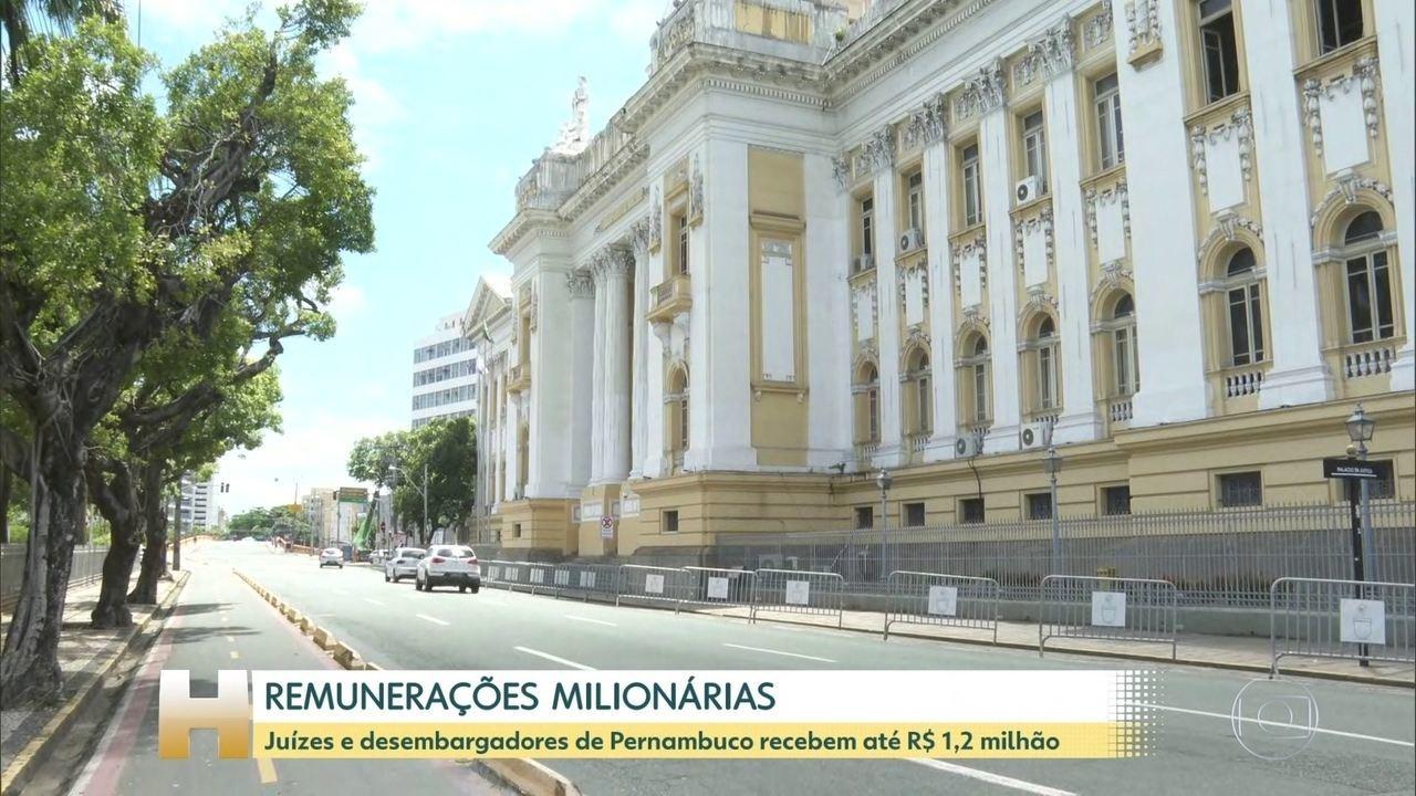 TJ de Pernambuco paga remunerações de até R$ 1,2 milhão em novembro