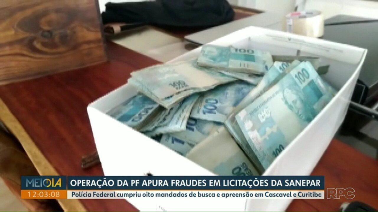 Operação da PF investiga fraudes em licitações da Sanepar e pagamento de propina