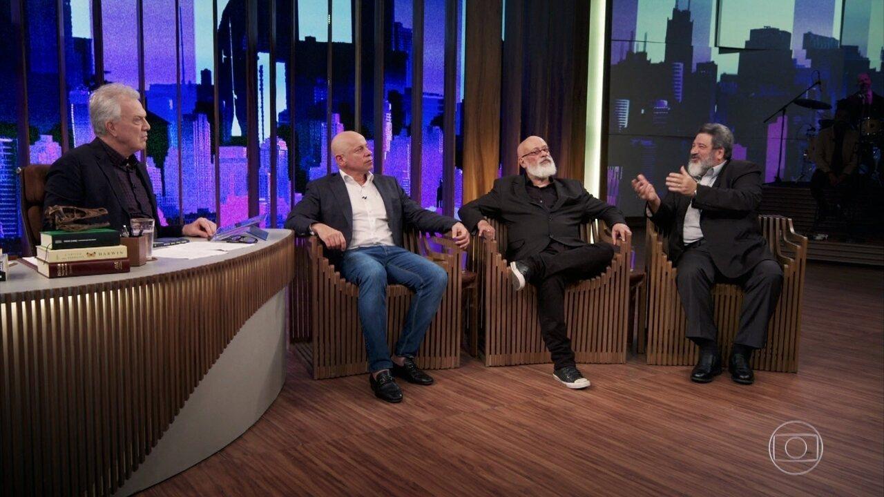 Leandro Karnal, Luiz Felipe Pondé e Mario Sergio Cortella falam sobre a felicidade