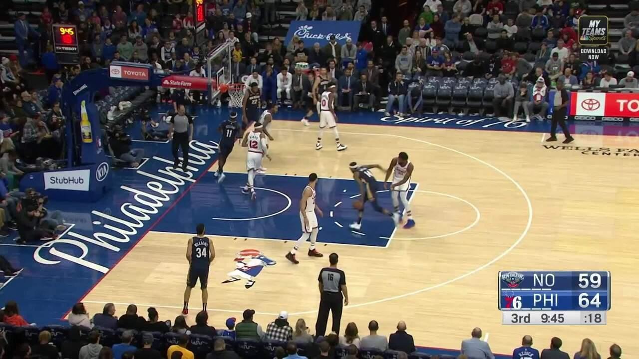 Melhores momentos de New Orleans Pelicans 109 x 116 Philadelphia 76ers pela NBA
