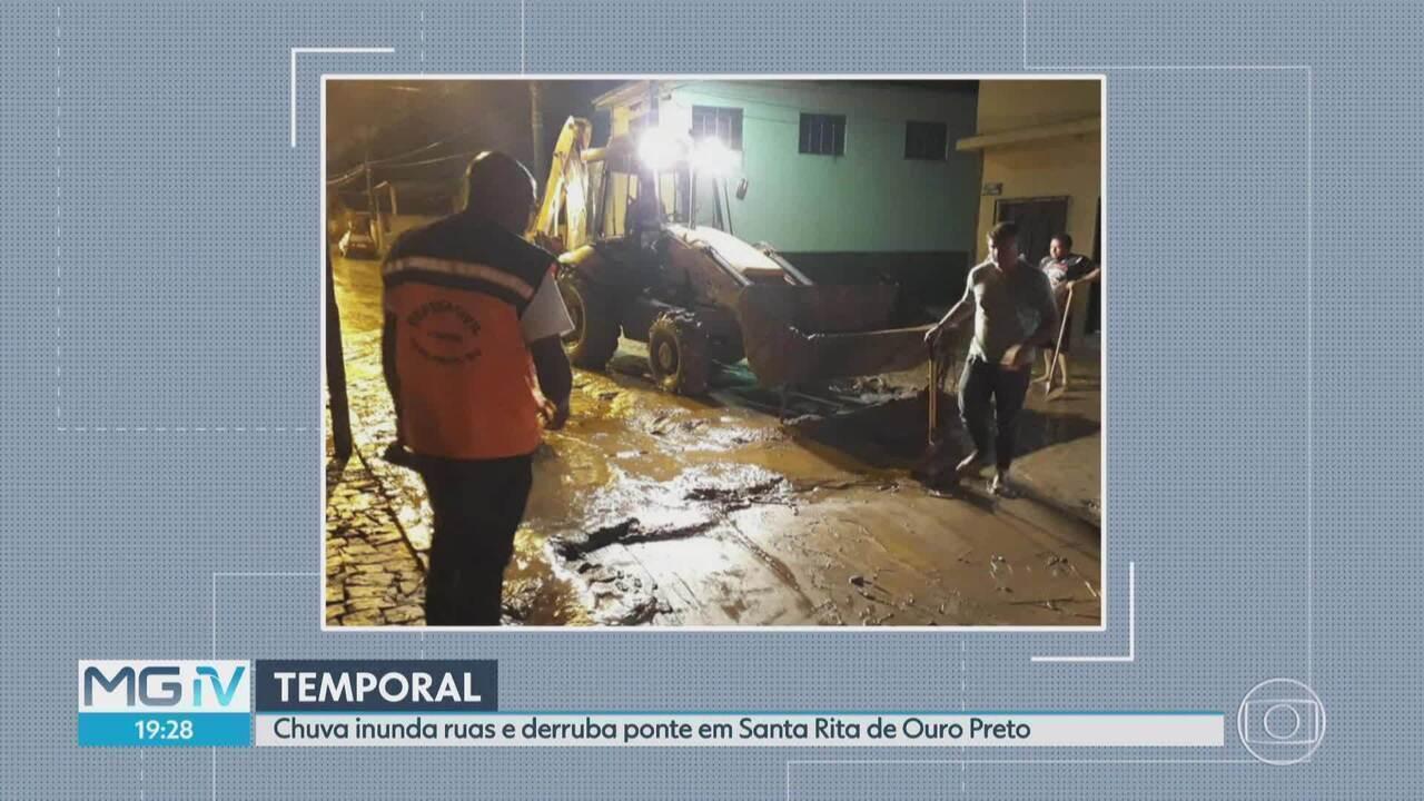 Chuva causa estragos em distrito de Ouro Preto