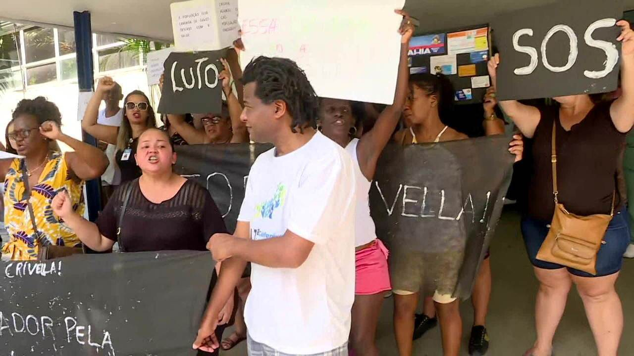 Funcionários da rede municipal de saúde sem salários fazem manifestação no Rio