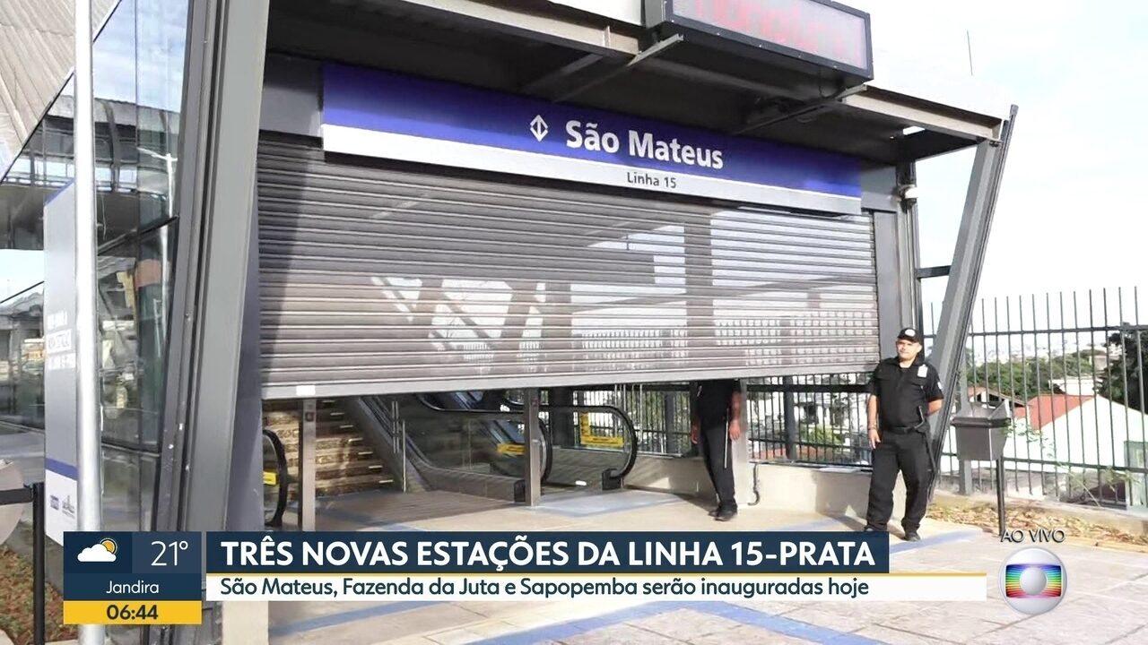Três novas estações serão inauguradas na Linha Prata.