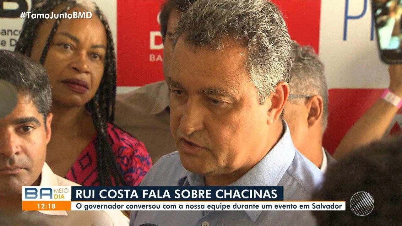 Governador da Bahia fala sobre chacina que deixou quatro motoristas mortos em Santo Inácio