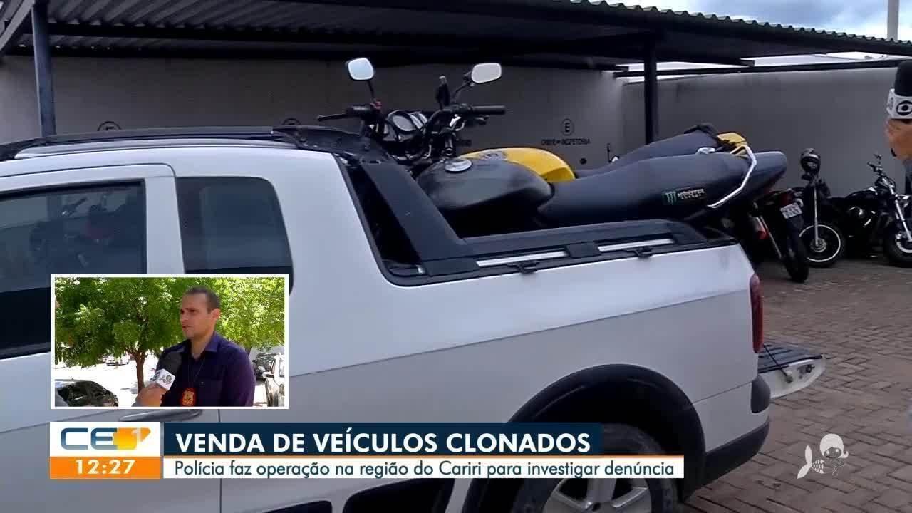 Operação no Cariri investiga venda de carros clonados