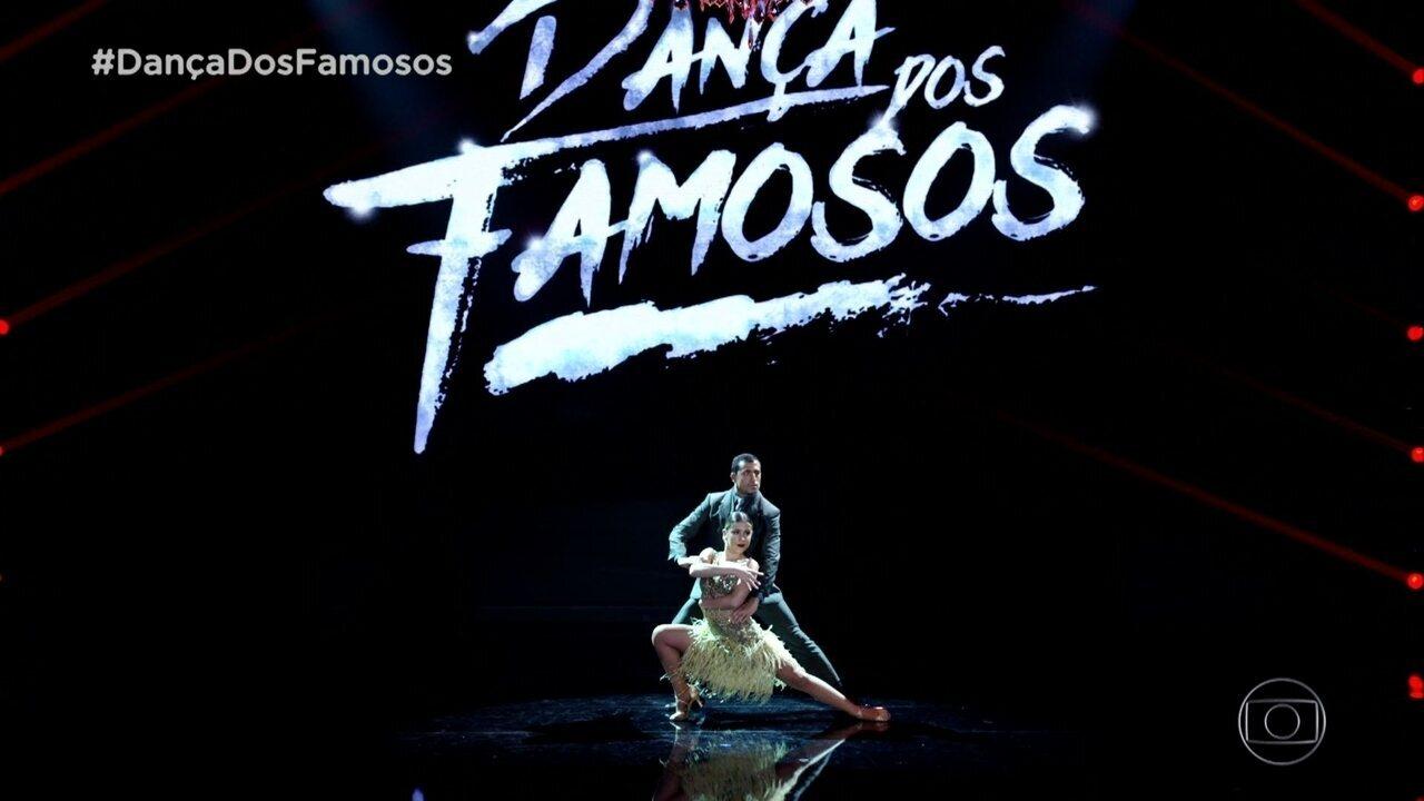 Kaysar Dadour e Mayara Araújo dançam tango na final da 'Dança dos Famosos'