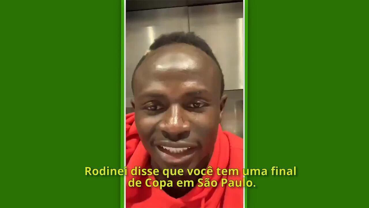 Sadio Mané deseja sorte para a Inter de Limeira