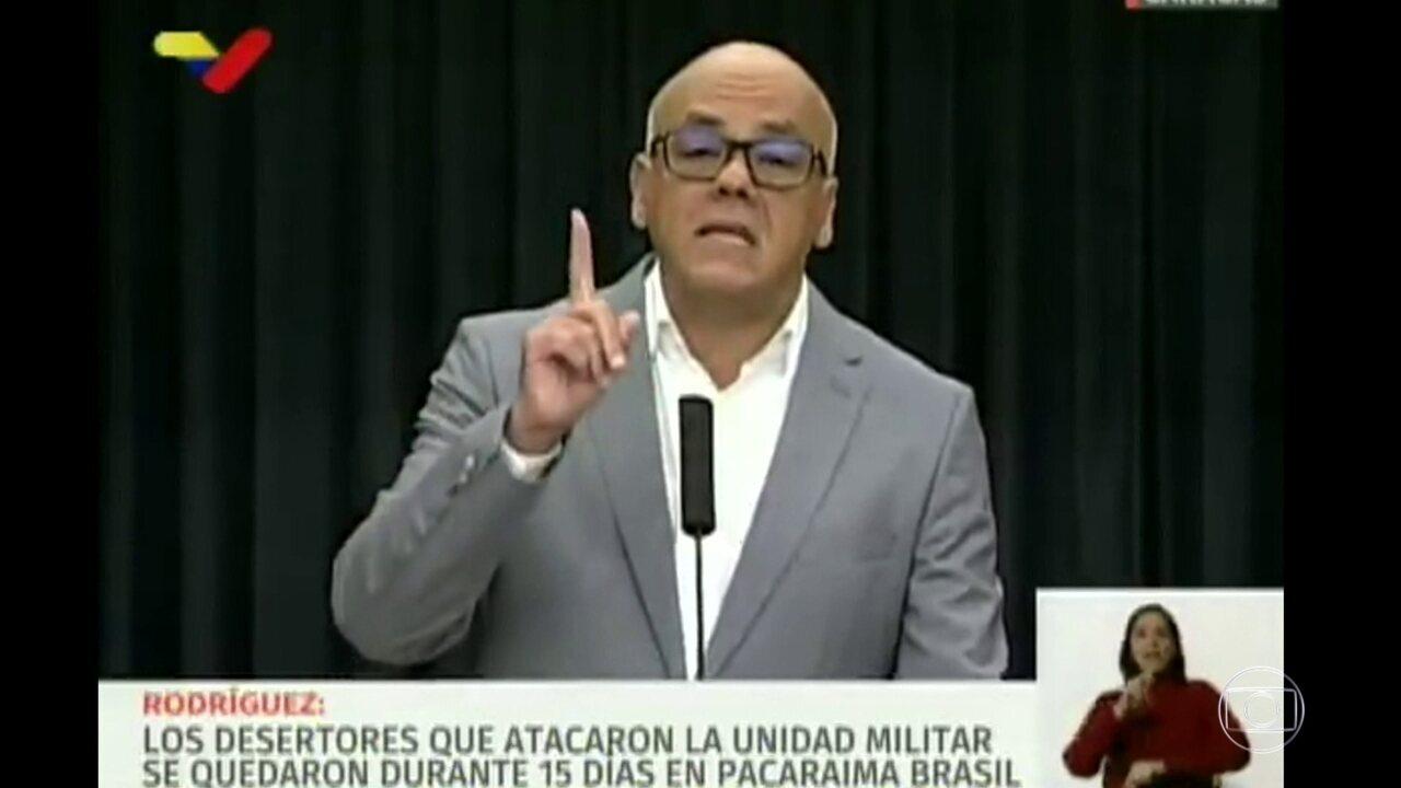 Venezuela acusa Brasil de treinar grupo que atacou base militar no país