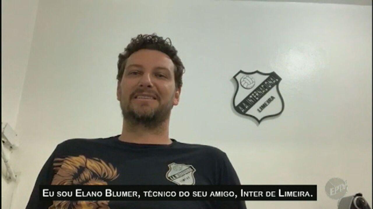 Elano responde a Mané, promete presente da Inter de Limeira e convida atacante para visita