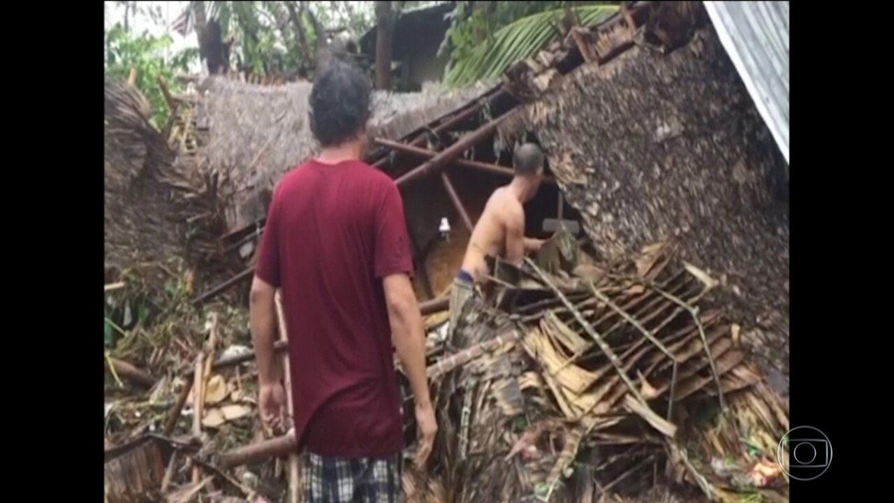 Passagem de Tufão na Filipinas deixa, pelo menos 16 mortos