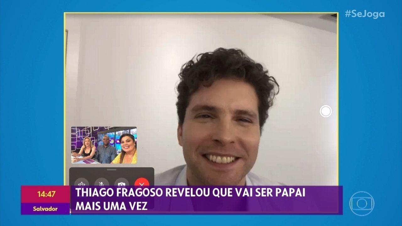 Thiago Fragoso conta que vai ser papai novamente