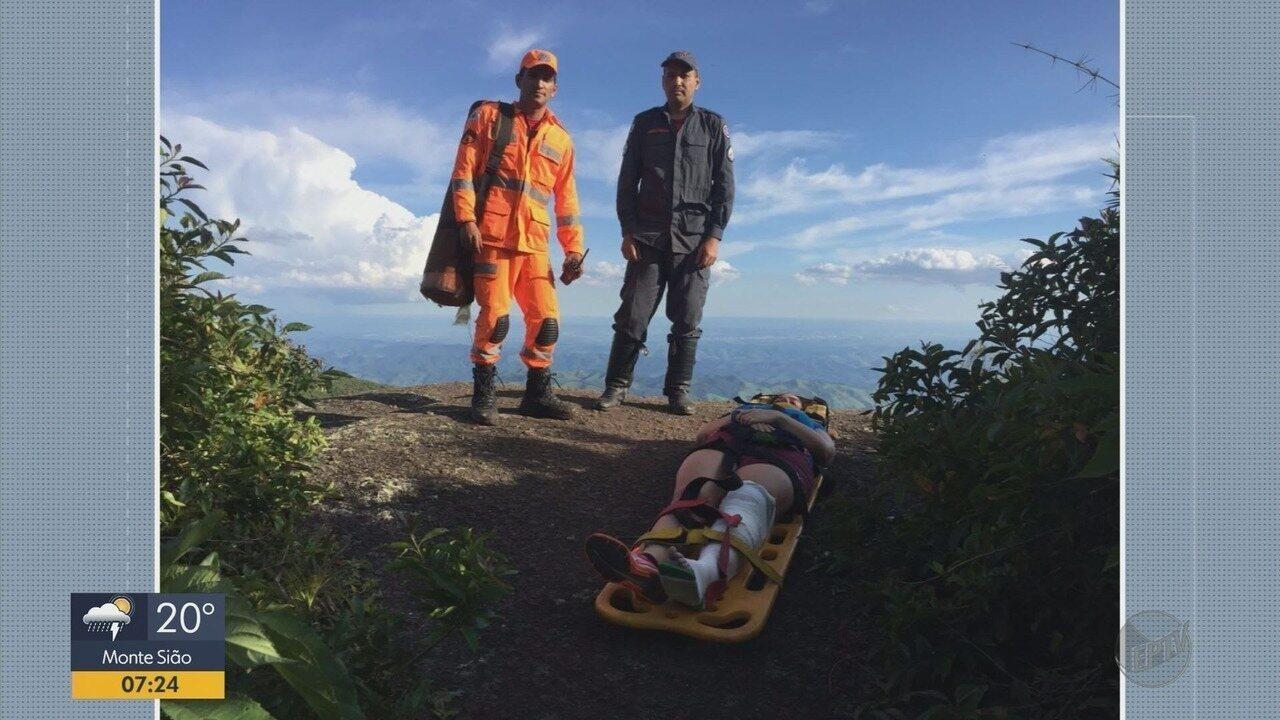 Mulher é resgatada de pico na Serra da Mantiqueira em Monte Verde